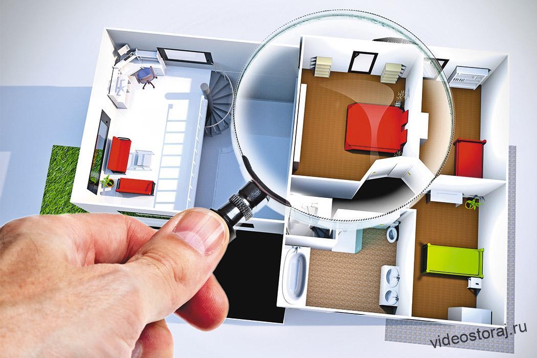 визуальный поиск видеокамер дома