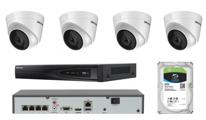 комплект видеонаблюдения с жестким диском на 500 гигабайт