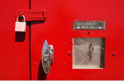 Закрытый пожарный щит