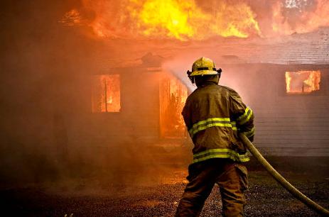 Возгорание в здании