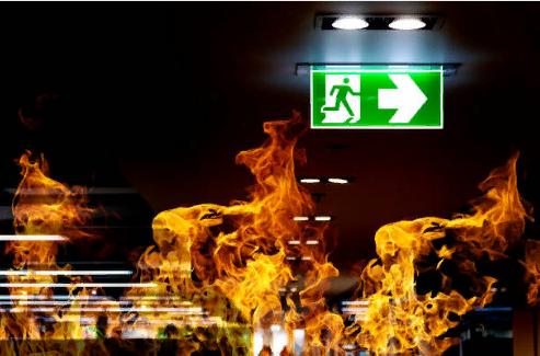 Возгорание в подъезде