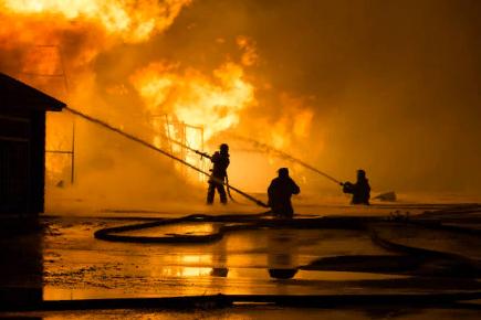 Особенности тушения пожара на предприятии