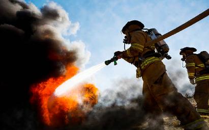 Аэрозольное тушение пожара