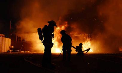 Пожар из-за возгорания жидких веществ