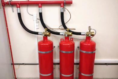 Применение модуля газового пожаротушения