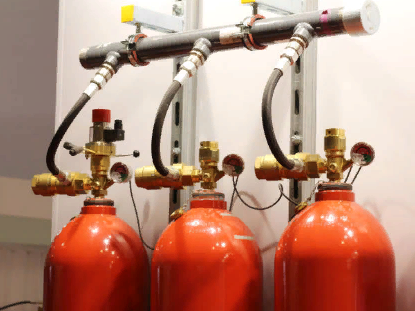 Расположение модульных систем пожаротушения