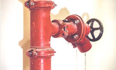 Установка пожарного крана