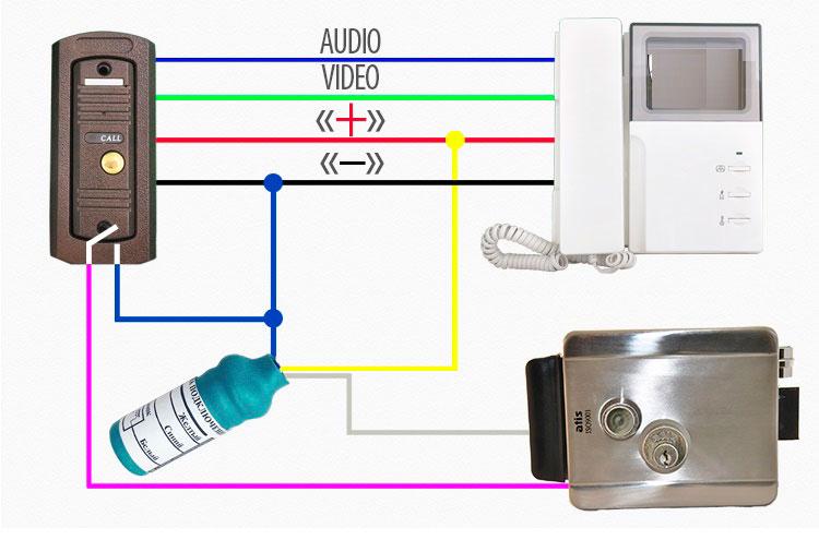 схема подключения БУЗ с тремя проводоами